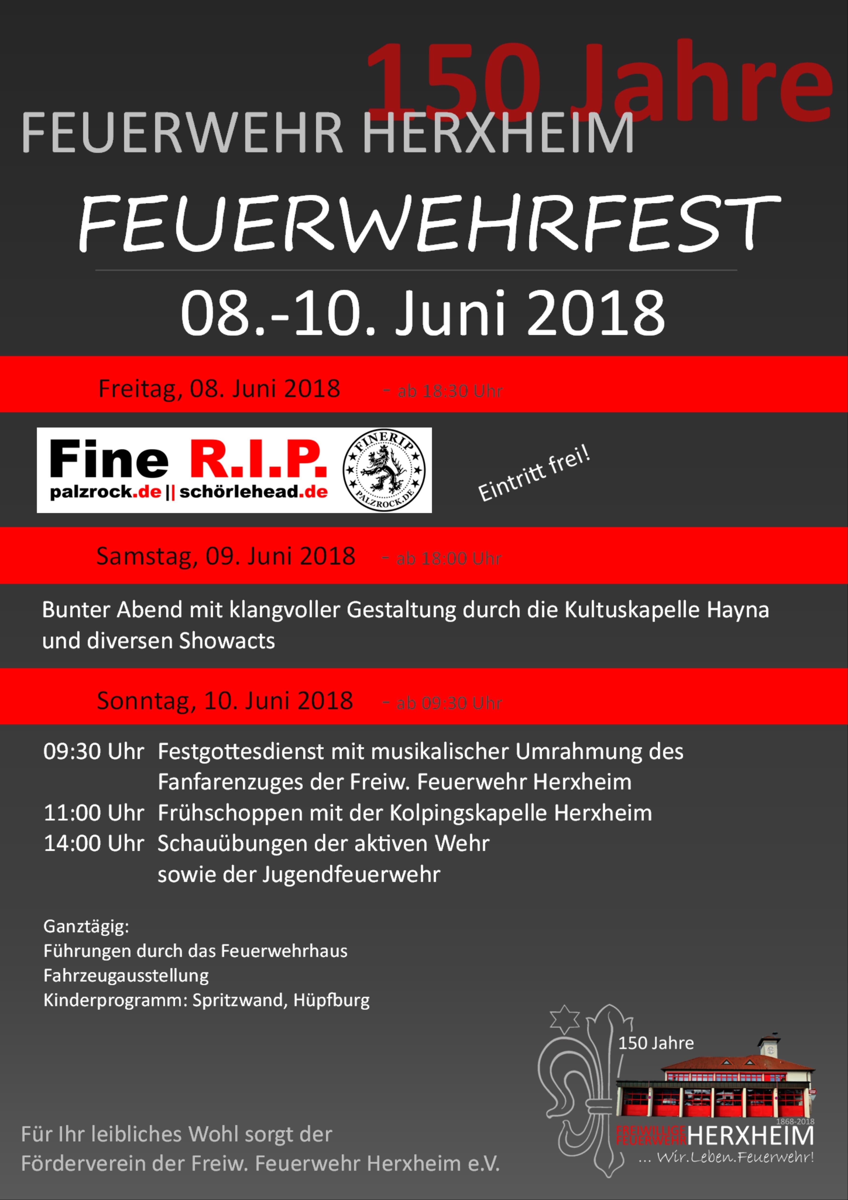 150-jähriges Bestehen der Feuerwehr Herxheim